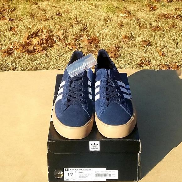 best service e4f52 97ddf New Mens Adidas Campus Vulc II Adv